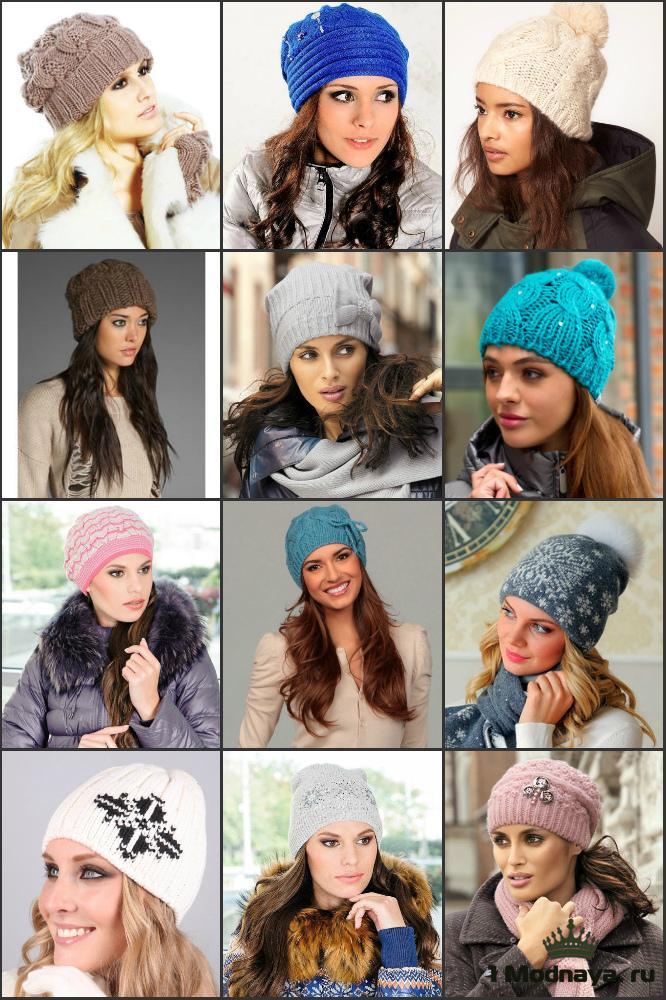 Модная женская шапка связанная своими руками 16
