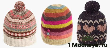 модные вязаные шапки 2015