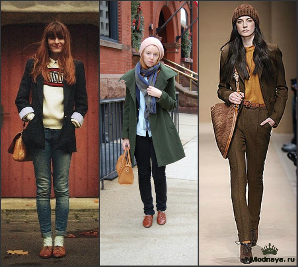 С чем носить женские оксфорды: правила и основы комбинирования