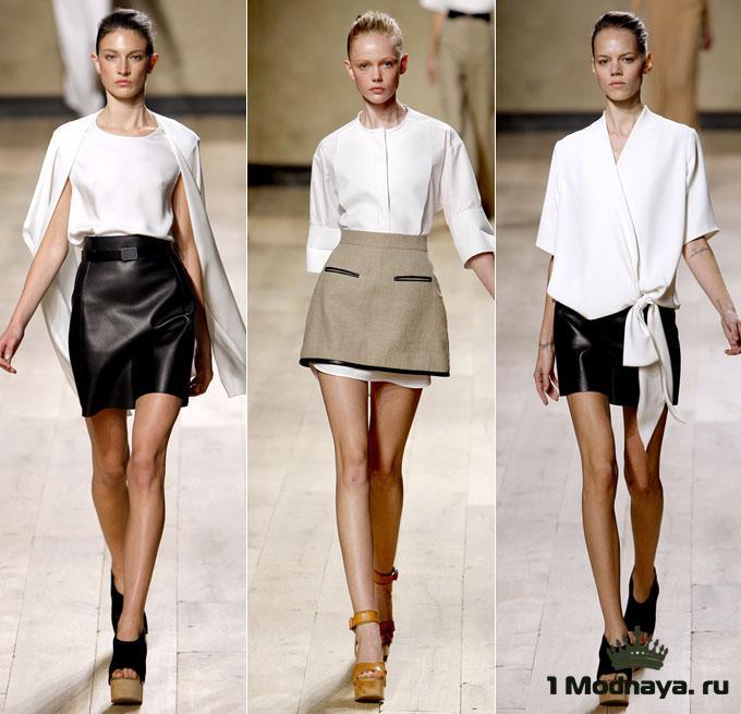 стильные мини юбки