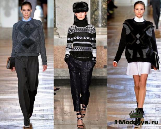стильные модели свитеров