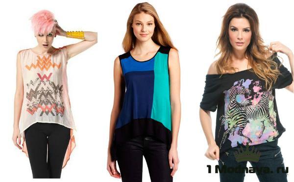 ae8c5d209c2ac В такой футболке каждая женщина будет выглядеть мило и привлекательно.  Популярны модели «на одно ...