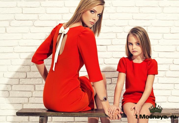 платье для мамы и дочки одинаковые фото