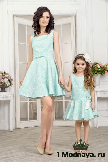 Сшить платье для мамы и дочки