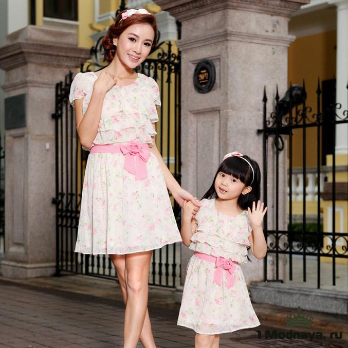 Платья мама и дочка сшить самой