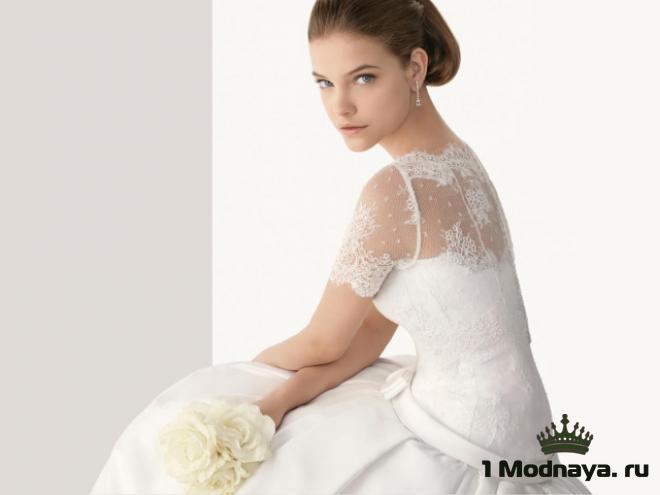 свадебные платья с кружевным верхом фото