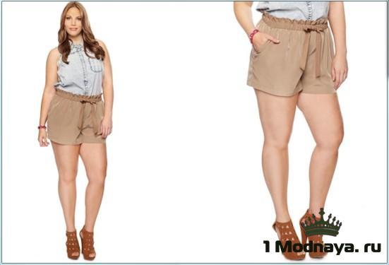 шорты для полных девушек фото
