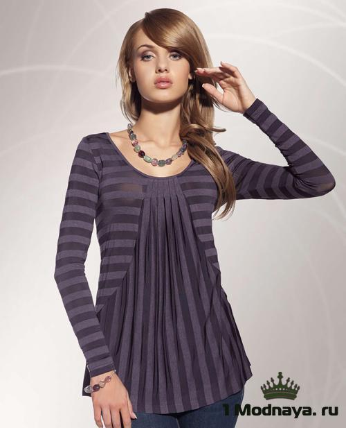 8861c19a4f89 Модные новинки: трикотажные блузки (Фото) | 1Modnaya.ru