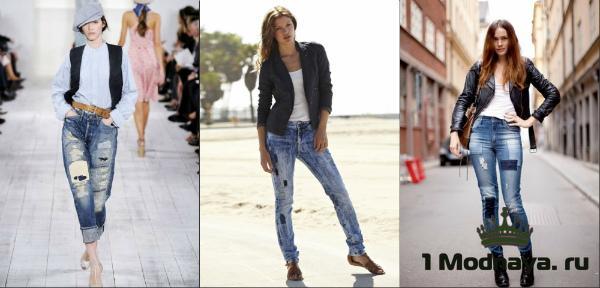 модные образы с джинсами 2016 фото