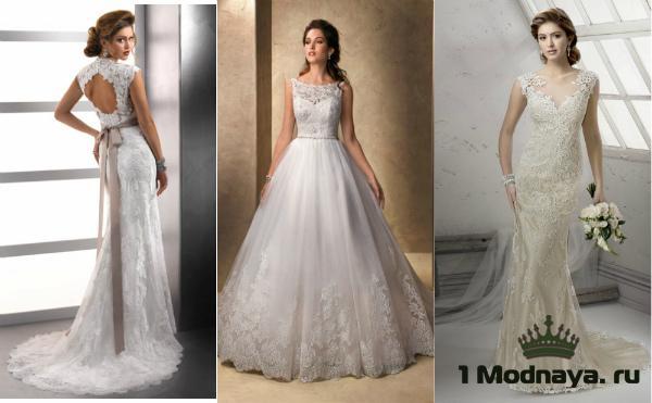 Свадебные платья из гипюр фото