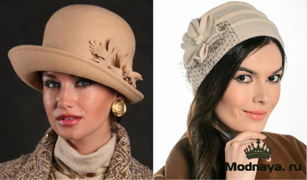 Модные шапочки осени