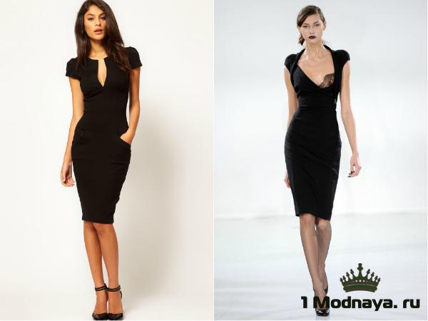 Платье черное стильное фото