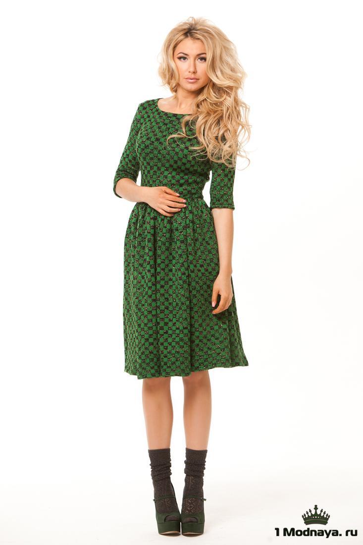Платье с юбкой годе до колена