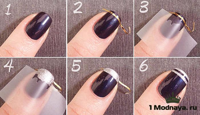 Как сделать маникюр гель лак с полосками