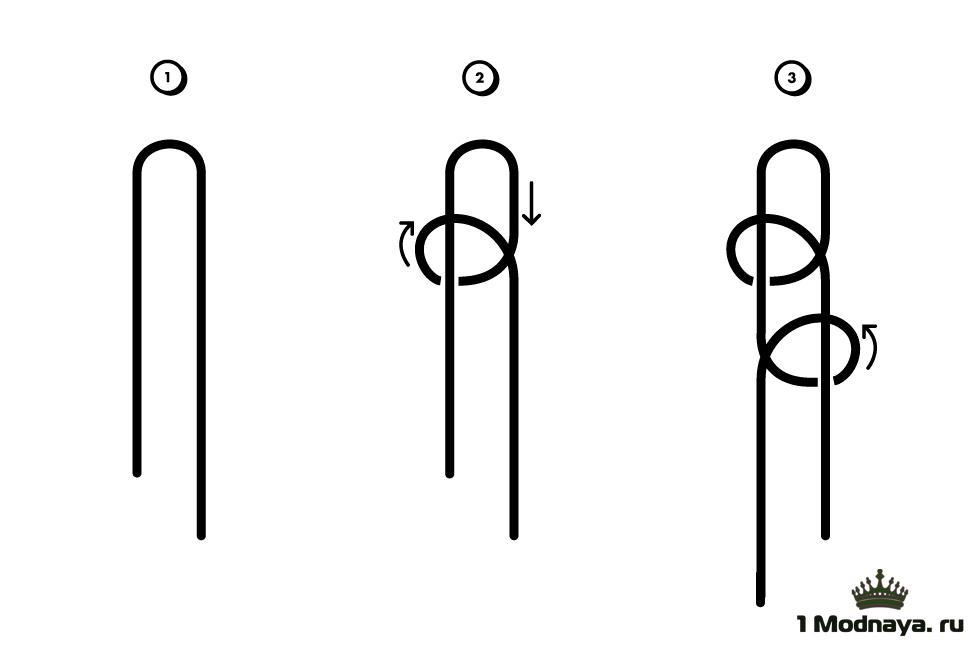 Как сделать петлю для шеи 74
