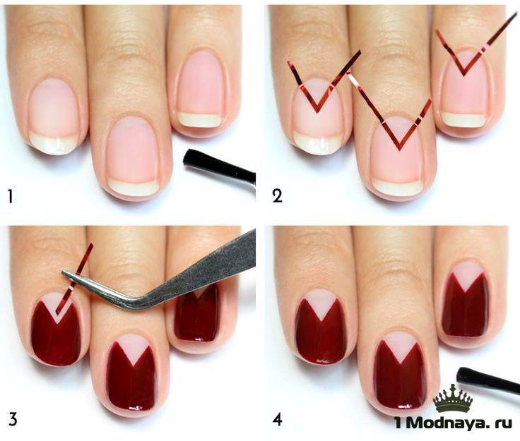 Как сделать на ногтях шеллаком 606