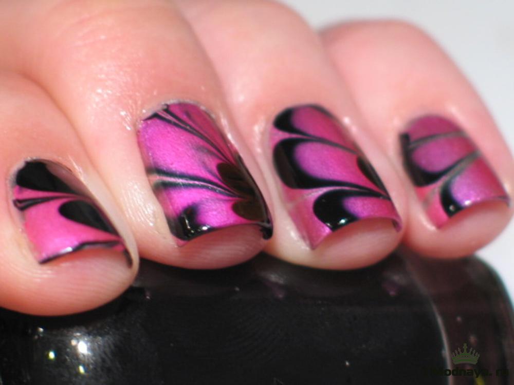 Идея для маникюра на коротких ногтях в домашних условиях