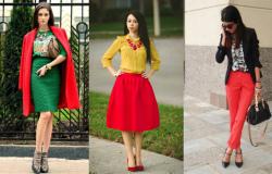 какой цвет сочетается с красным в одежде