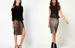 с чем носить леопардовую юбку карандаш