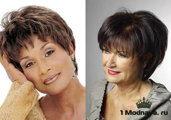 Образцы причёсок для женщин 50 лет