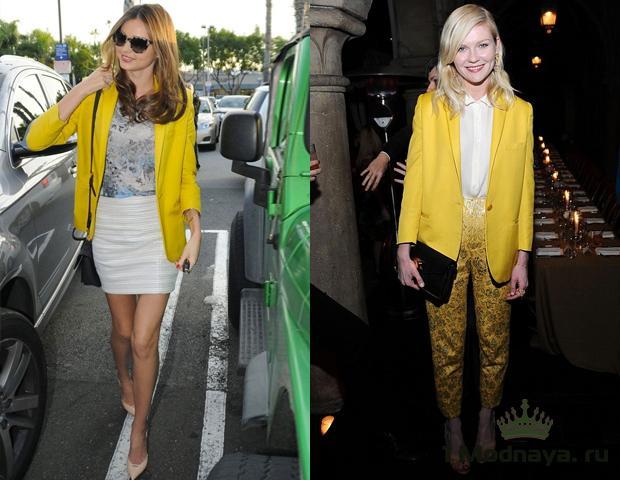 с чем носить лимонный пиджак