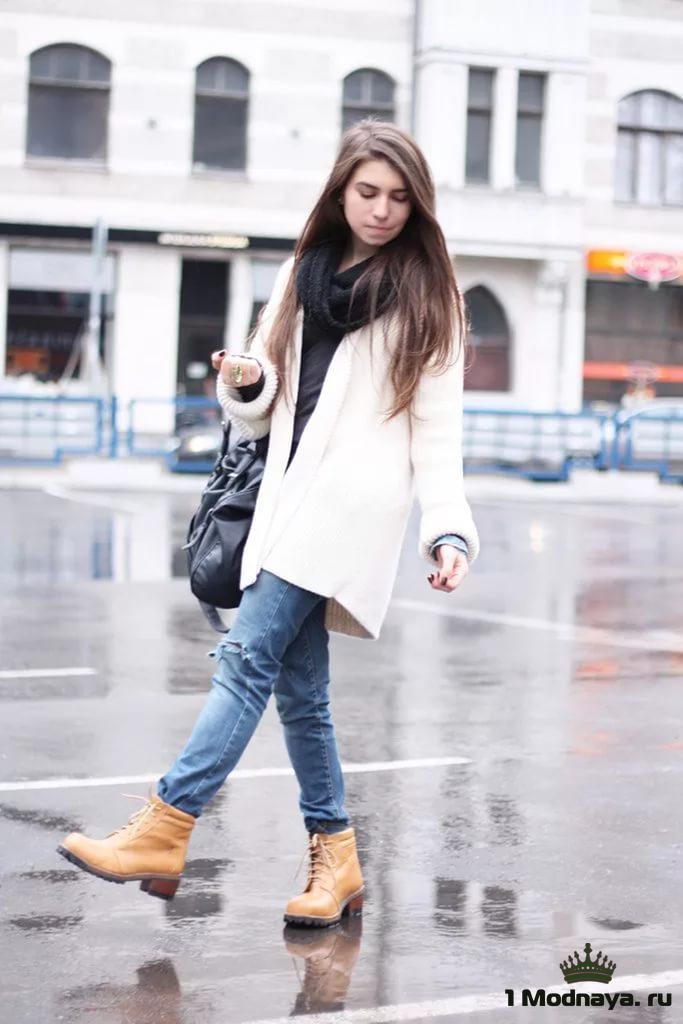 С чем носить белые ботинки девушке