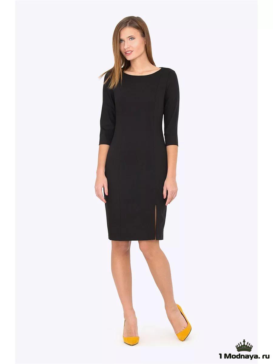 Платье футляр с рукавом три четверти