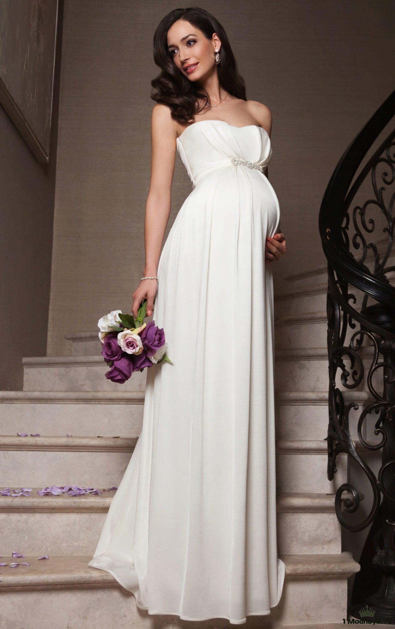 Фасоны свадебного платья для беременных 88